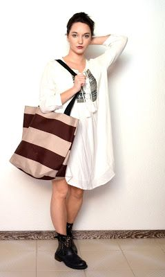 Wonderland: Maxi shopper and stripes
