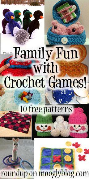10 free crochet game patterns!