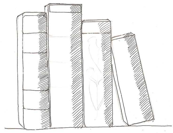 How To Draw Books In Shelf Which Can Be Read Children S