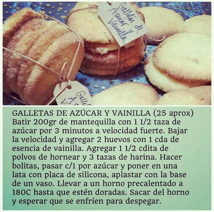 Galletas de Azúcar y Vainilla