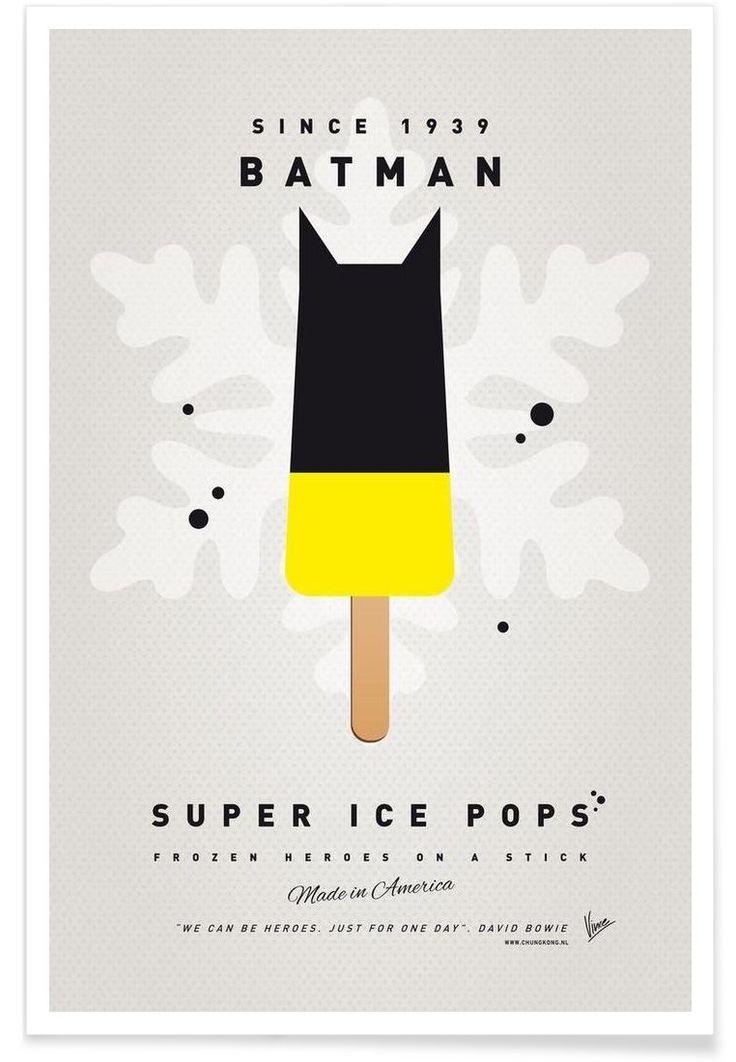 My Superhero Ice Pop - Batman Art Print by Chungkong now on Juniqe.com | Art. Everywhere.