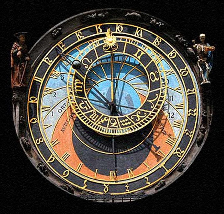 The astronomical clock in Prague. Made in 1410.