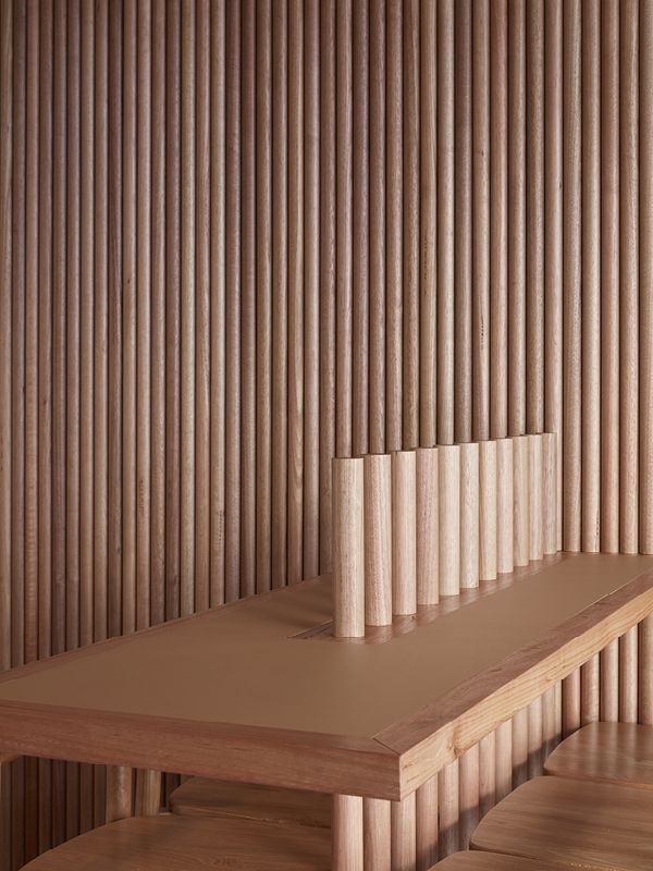 We Love The Use Of Timber Dowels On The Ceiling At Hella