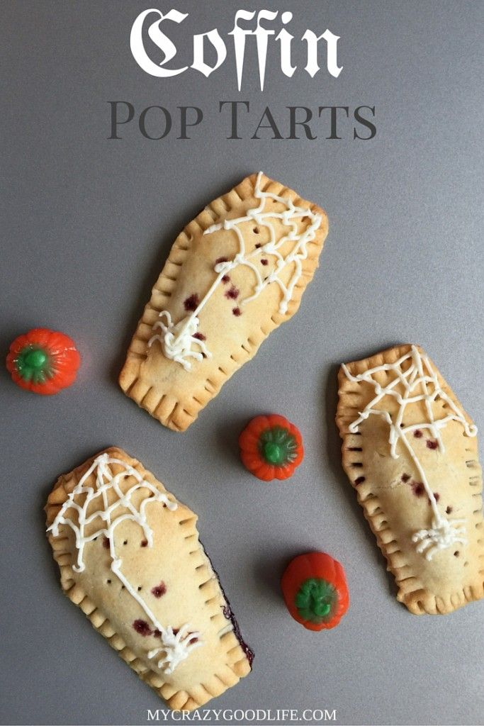 These fun coffin-shaped pop tarts are a quick and easy treat for Halloween!