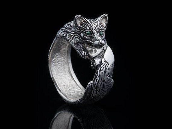 Fox Ring sterling zilver handgemaakte