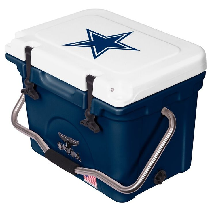 Dallas Cowboys Orca 20 Quart Hard Sided Cooler White Navy Dallas Cowboys Cowboys Dallas Cowboys Fans