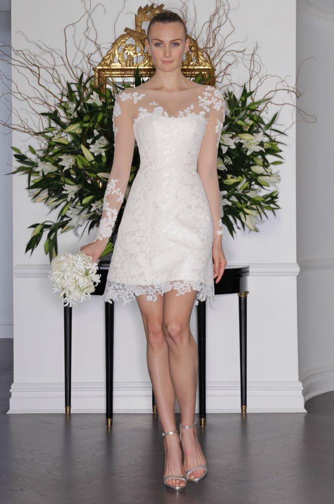 Mini Wedding Dress with Sleeves
