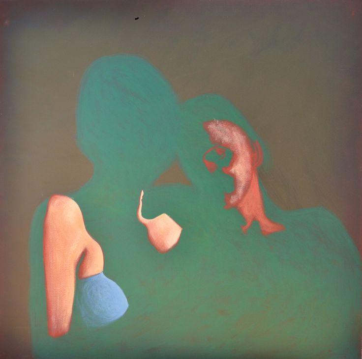 D. Milczarek. Zanikanie. tempera -óBtkowa 90×90 cm | CENTRUM PROMOCJI MŁODYCH - Muzeum Częstochowskie
