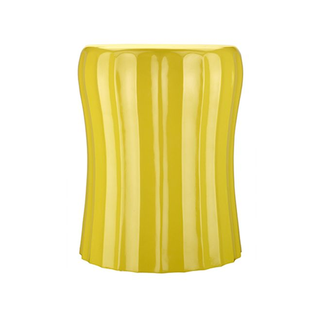 Yellow Wave Lacquer Accent Table - This lacquered side table is the perfect balance of modern and glam! #PNshop