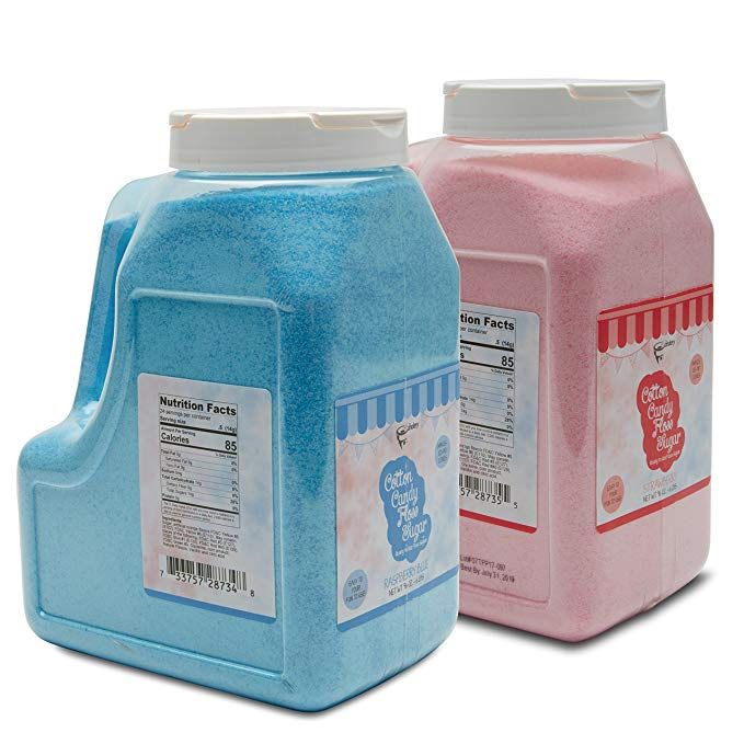 The Candery Cotton Candy Floss Sugar 6lbs 96oz Jars 2 Pack Strawberry And Rasperry Floss Sugar Candy Floss Sugar Candy Floss