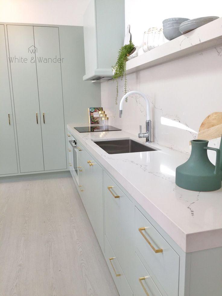 Stunning green kitchen by threebirdsrenovations