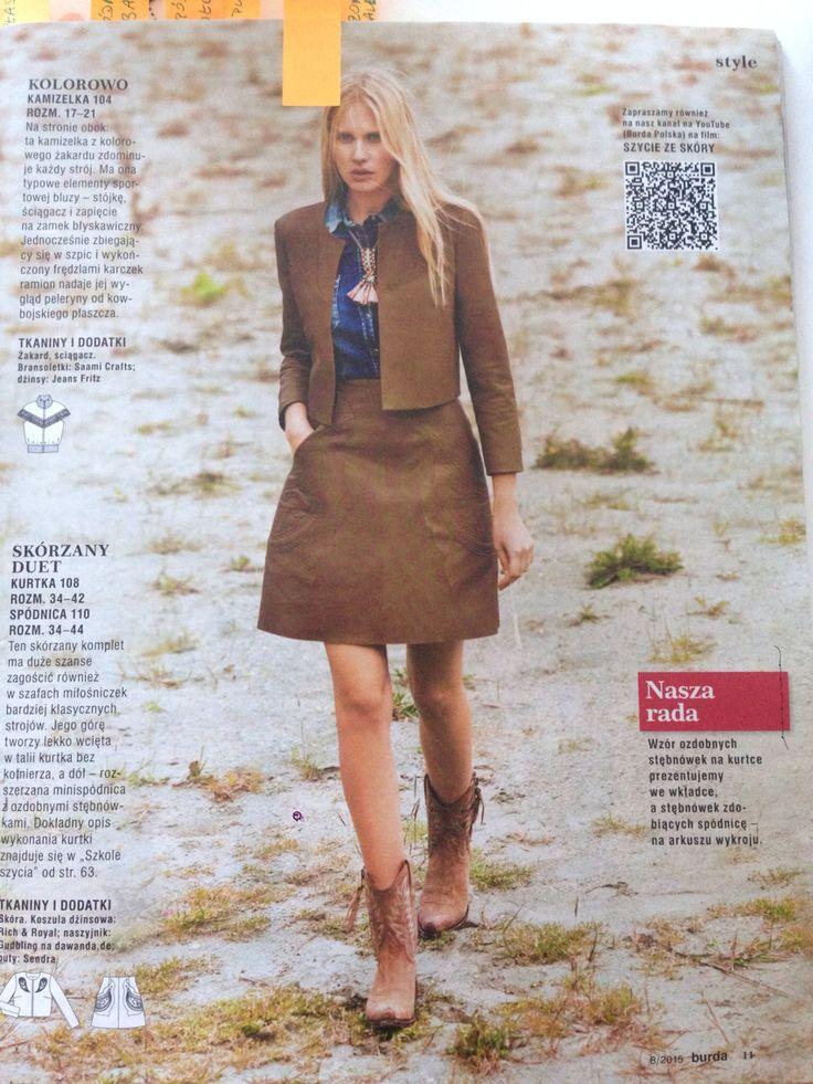 """A """"trapezium"""" skirt /  Burda PL nr 8/2015"""