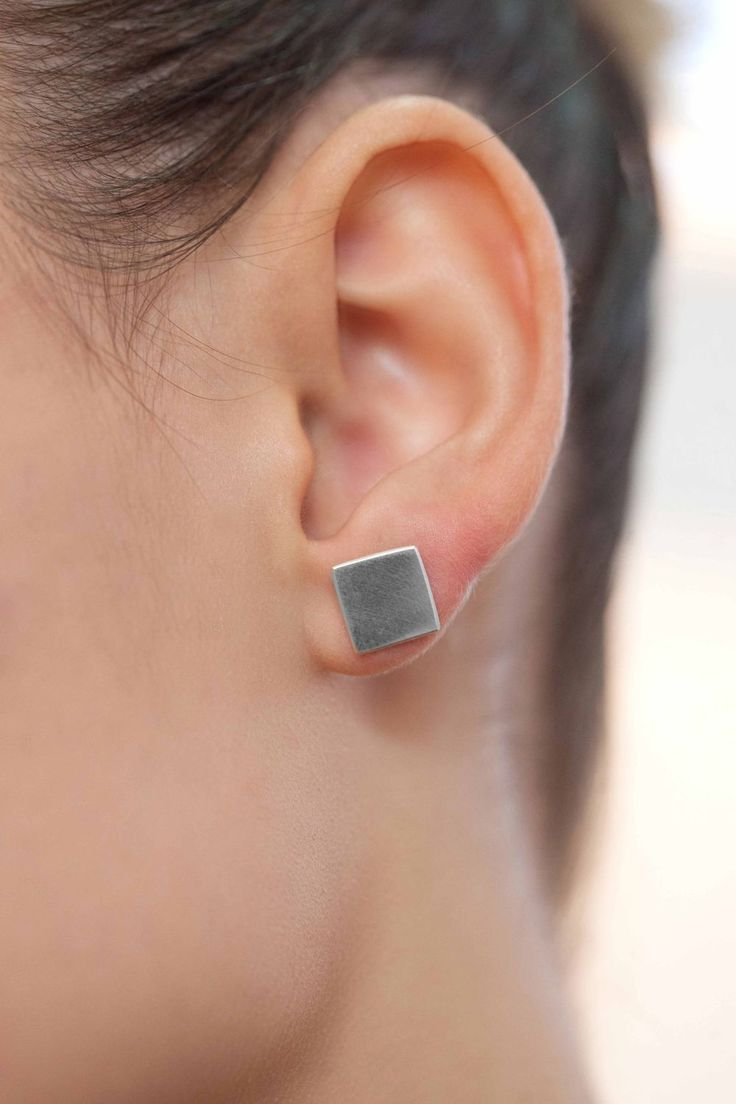 Square earring via LIFE IN MONO. Click on the image to see more!