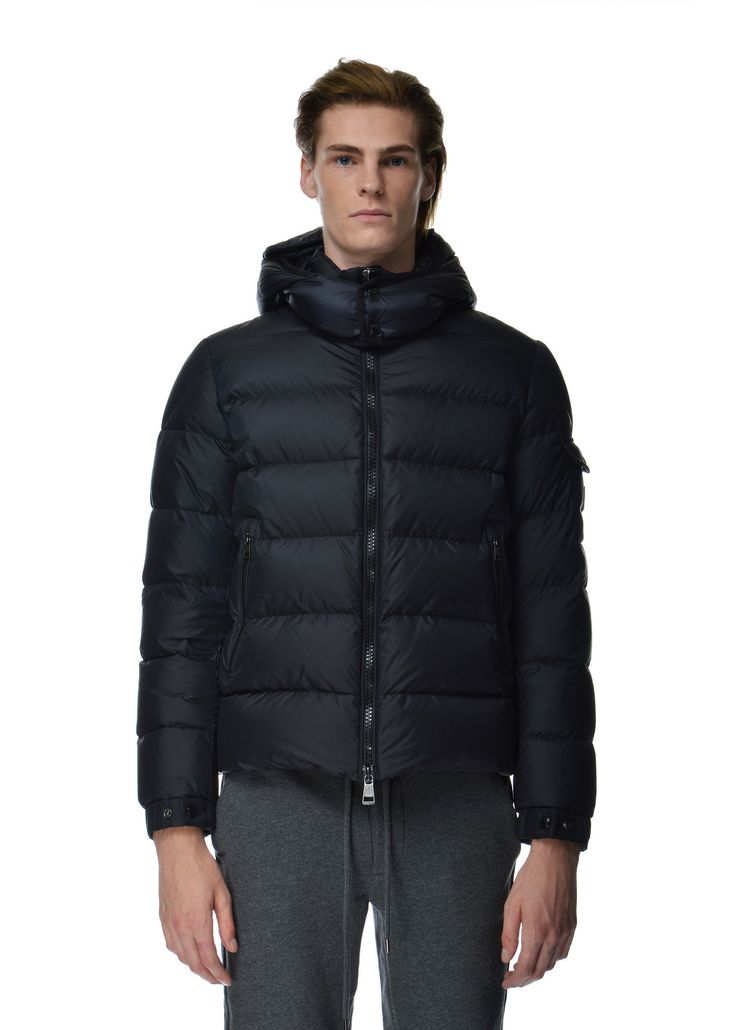 Moncler - Fall Winter 2015 - Menwear // Hymalaya navy coat with removable hood