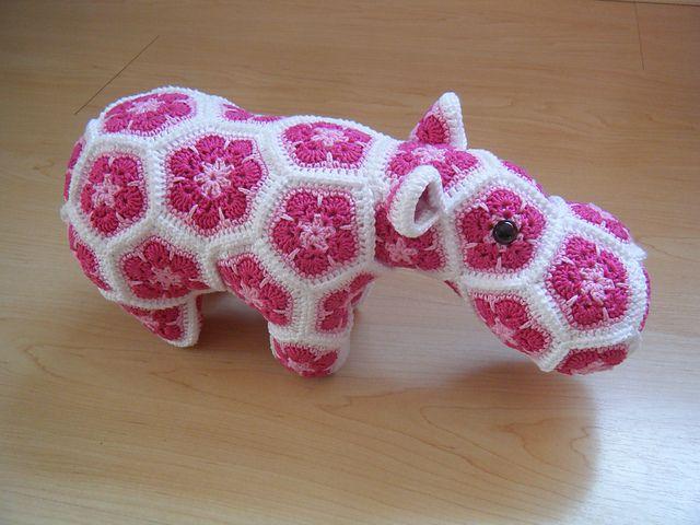 Ravelry: COPHs African flower hippo Amigurumis crochet ...