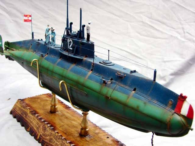 1 72 Kuk U 12 Holland Type C Wiener Modelbau Submarine