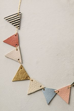 pennant necklace - look for leather scraps or hard wool felt, or both?
