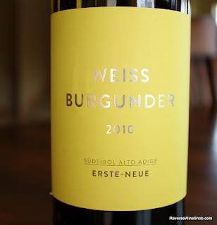 Erste + Neue Weissburgunder-Pinot Blanc 2010 - Wines From Alto Adige Wine #3. $14, http://www.reversewinesnob.com/2012/07/erste-neue-weissburgunder-pinot-blanc.html
