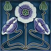 Die Mohnblüte oder Mohnpflanze als Ganzes ist eines der typischen floralen Jugendstil-Ornamente.