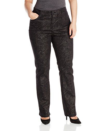 NYDJ Women's Plus-Size Marilyn Straight Classic Jeans in Enzyme Wash, Enzyme Wash, 20W