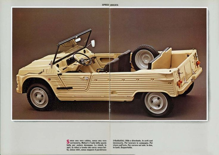 "Citroen Mehari brochure ""Man, I would totally j'taime one of these."" KB"