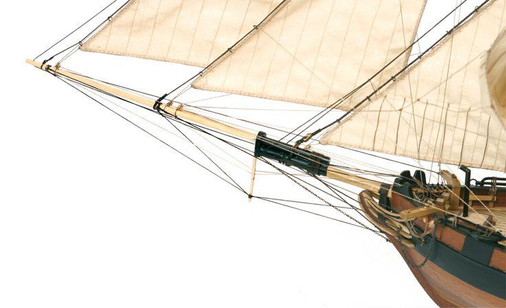 Schooner DOS AMIGOS. Model ship.