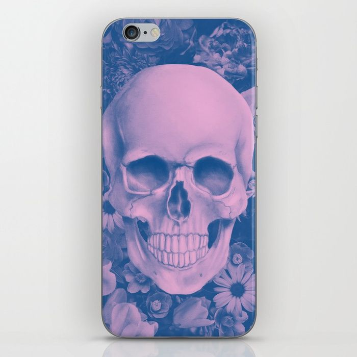 iPhone case with SKULL. Skins are thin, easy-to-remove, vinyl decals for customizing your device. Skins are made from a patented material that eliminates air bubbles and wrinkles for easy application. #skull #skullart #iphone #case