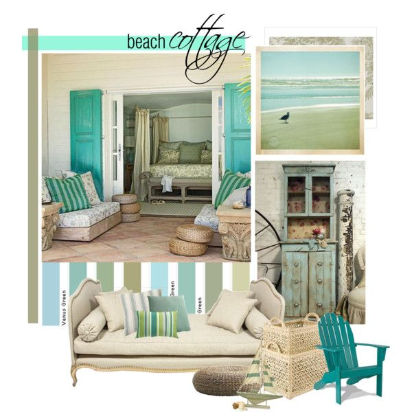 Beach Cottage, created by lollypop1 on PolyvoreBeach Colors, Beach House, Beach Cottages, Beach Decor, Colors Schemes, Coastal Living, Cottages Colors, Bedrooms Decor, Beachhouse