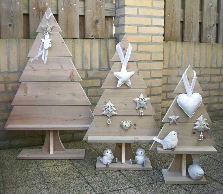 25 beste idee n over houten kerstbomen op pinterest houten kerst knutselen - Deco kleine tuin buiten ...