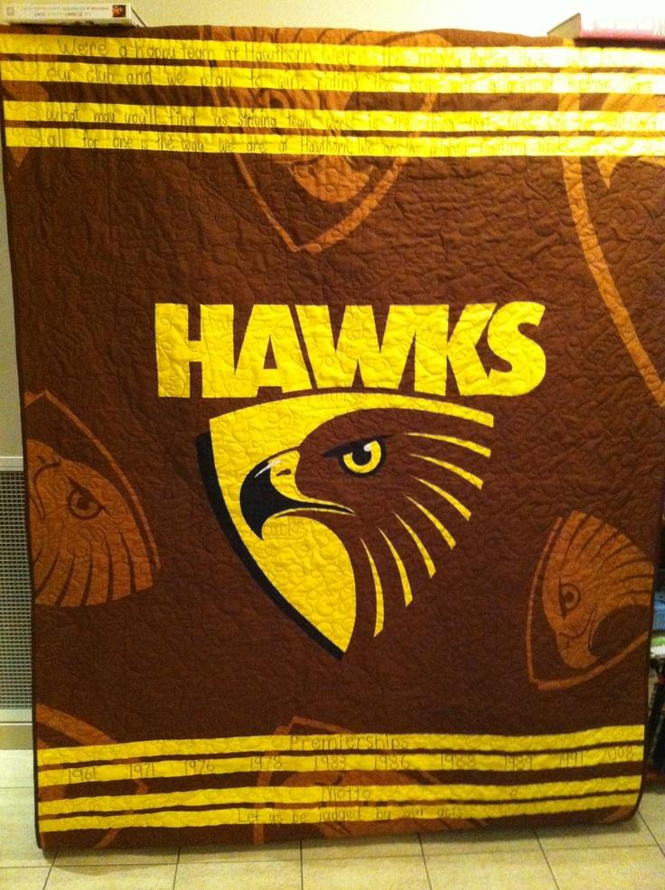 Micks hawks quilt.