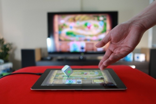 Playing Powered Board Games on a Tablet together with DICE+!