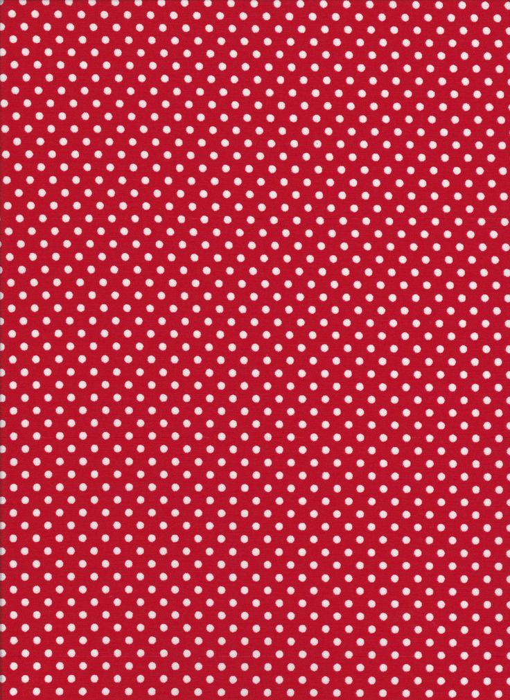 Lecien 4504 red polka dots by DonnasLavenderNest on Etsy