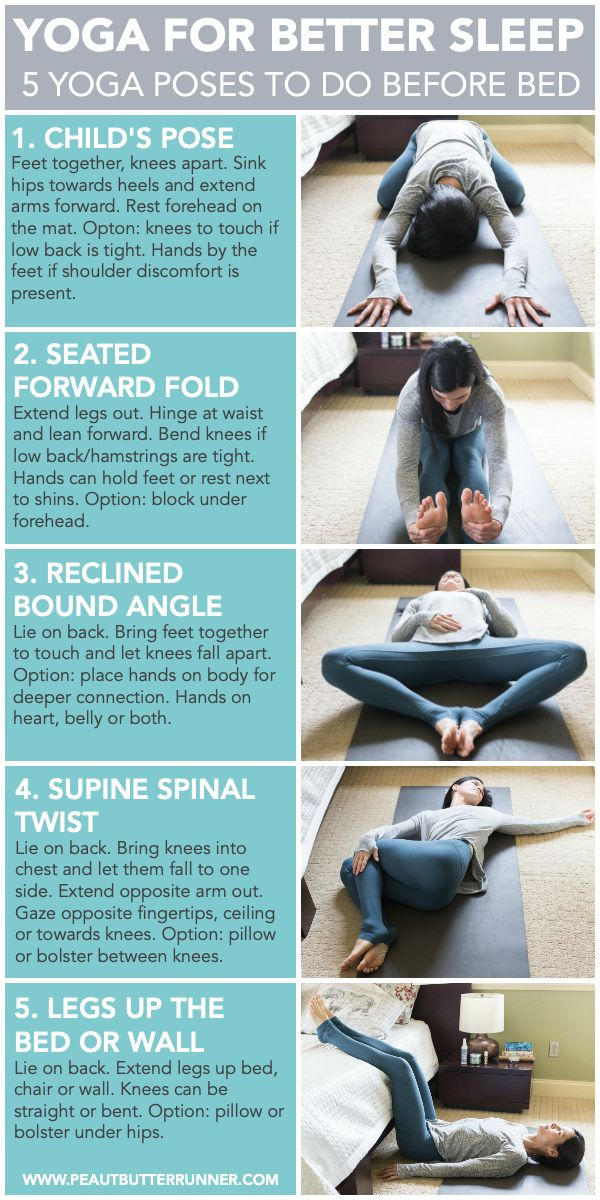 5 Simple Yoga Poses To Add To Your Bedtime Routine To Help You Get A Better Night S Sleep The Natural Way Slee Easy Yoga Poses Yoga Poses For Sleep Easy Yoga