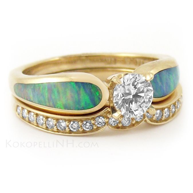 quot sunlit sea quot 5 ct and opal engagement ring