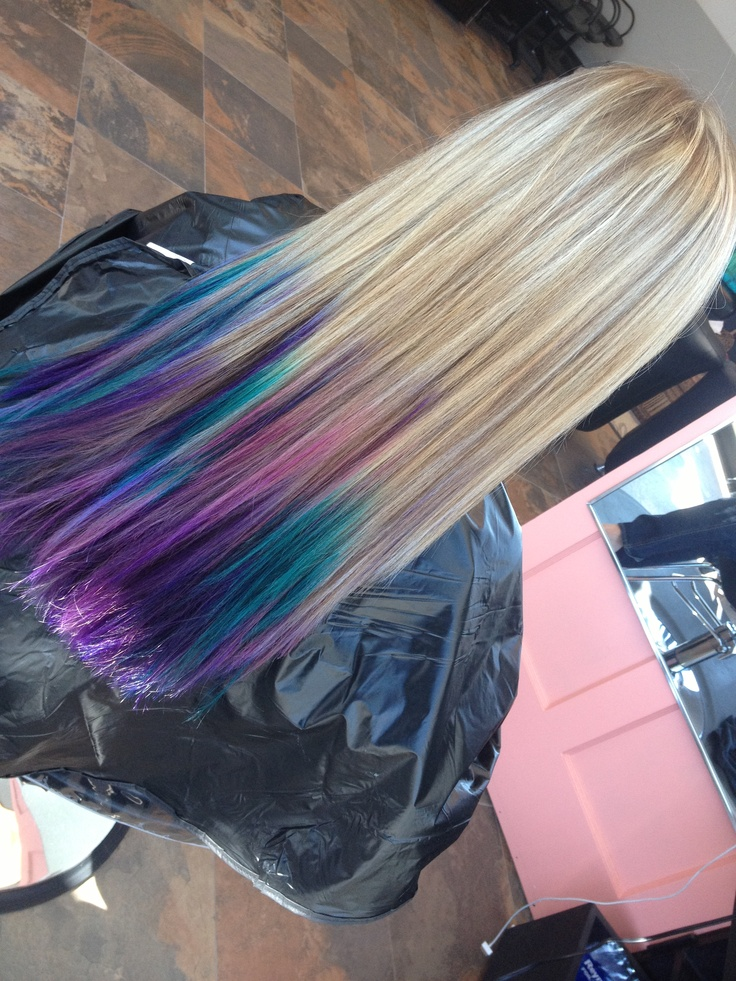 Dip dyed hair-to show my daughter