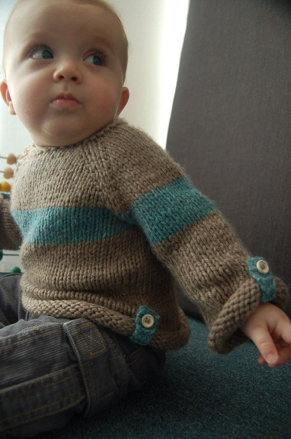 Baltic Baby Sweater PDF knitting pattern by frogginette on Etsy