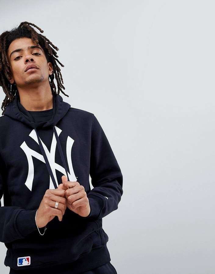 separation shoes b573d c0251 New Era New York Yankees Hoodie With Large Logo In Navy ...