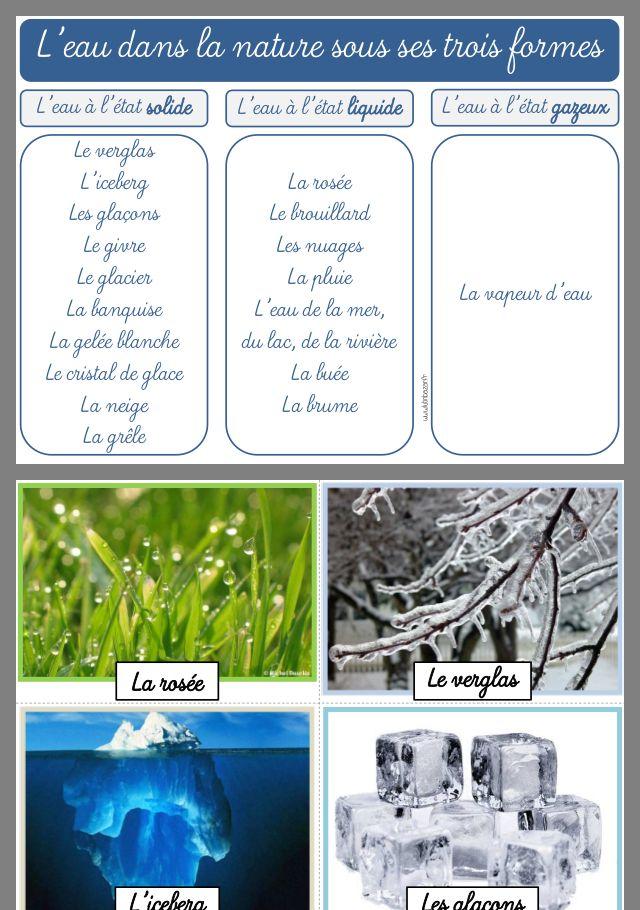Les Formes De L Eau : formes, Épinglé, Stéphanie, Cycle, L'eau,, Cours, Sciences,, Science, Nature