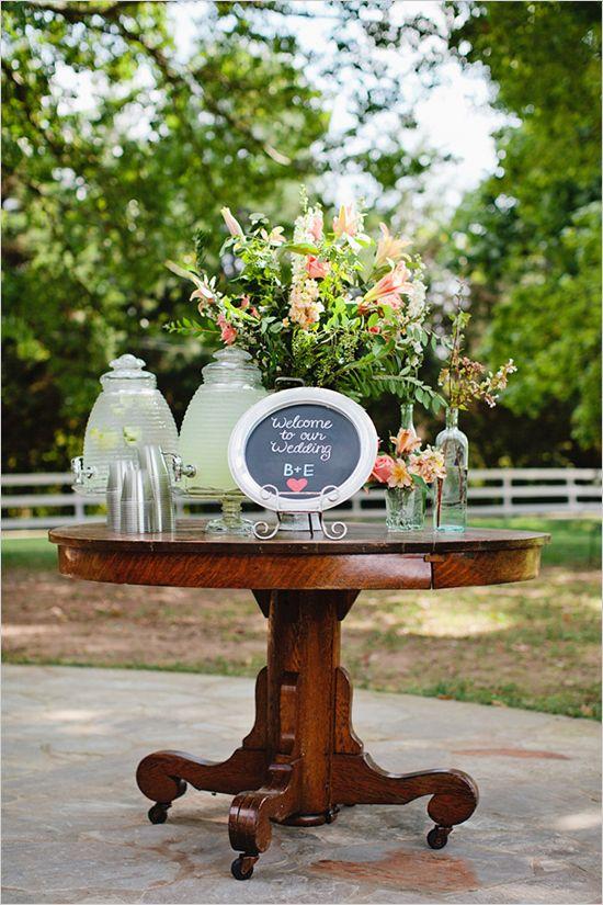 welcome wedding table