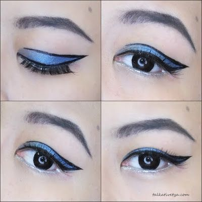 Graphic Eyeliner  #Blue #Silver #Black   Talkative Tya: REVLON COLORFUL AFFAIR CHALLENGE - Dare To Be Bold With Revlon Eyeliner