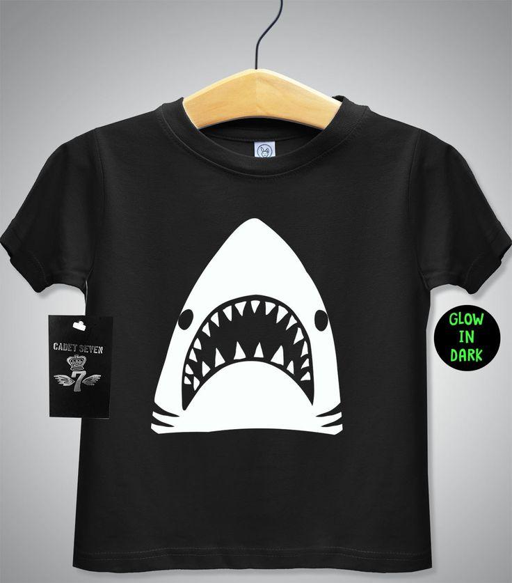 Glow In The Dark Shark Tshirt Baby T Shirt Toddler T