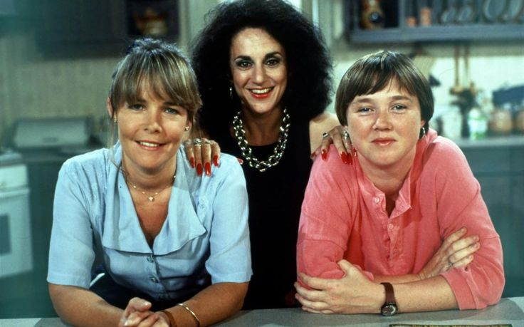 Linda Robson, Lesley Joseph and Pauline Quirke in Birds of a Feather in 1989