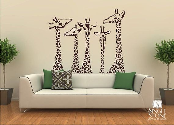 giraffes for the home - I would love this, but again, I don't think my husband would allow...maybe if it was in our basement or office? MH