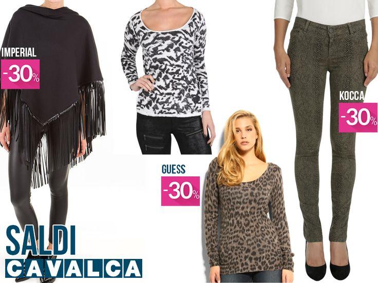 I capi di tendenza da scegliere durante i #saldi! #cavalca #moda #fashion #varese #shopping #guess #kocca #imperialfashion