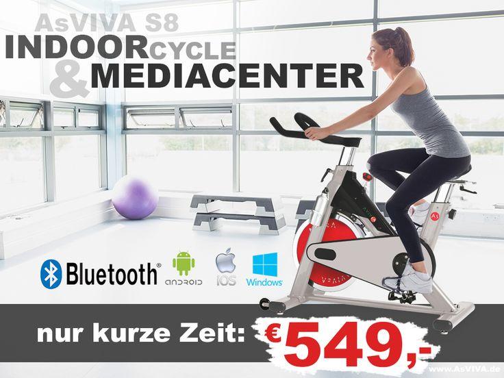 Nur kurze Zeit und nur im AsVIVA.de Shop! S8 Indoor Cycle | Android & Mac IOS APP kompatibel! Das Bluetooth Speed-Bike für €549,-  Direkt vom Hersteller und Versandkostenfrei.* - Das ist Fitness made in germany - www.asviva.de | www.as-fitness.de und http://blog.asviva.de #heimtrainer #hometrainer #fitnessgerät #fitness #fitnesstraining #workout #sport #body #crosstrainer #rudergerät #stepper #laufband #indoorcycle #speed #trainer #muskel #bodybuilding #gym #profesional #ausdauertrainig
