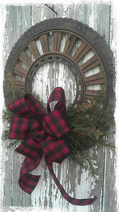 Tractor part wreath...how cute!