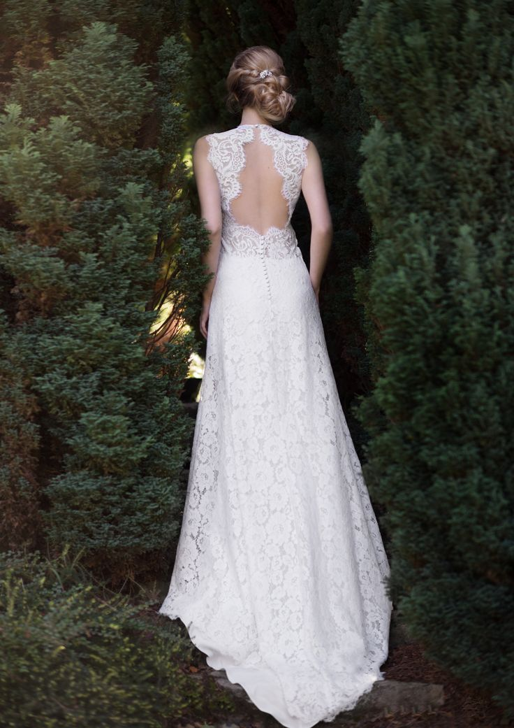 Robe de mariée - mariage - wedding - noire - dentelles - robe de soirée - sur mesure - vintage - dos nu