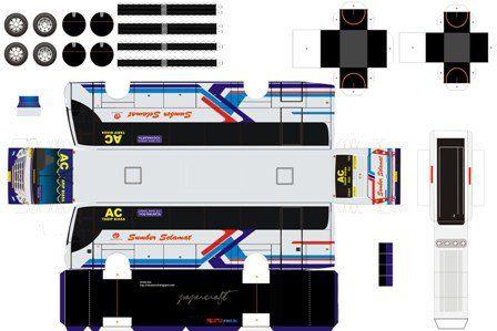 Pola Papercraft Bus Indonesia Mr Ivan
