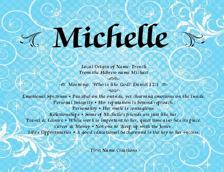 Michelle Name Meaning - First Name Creations