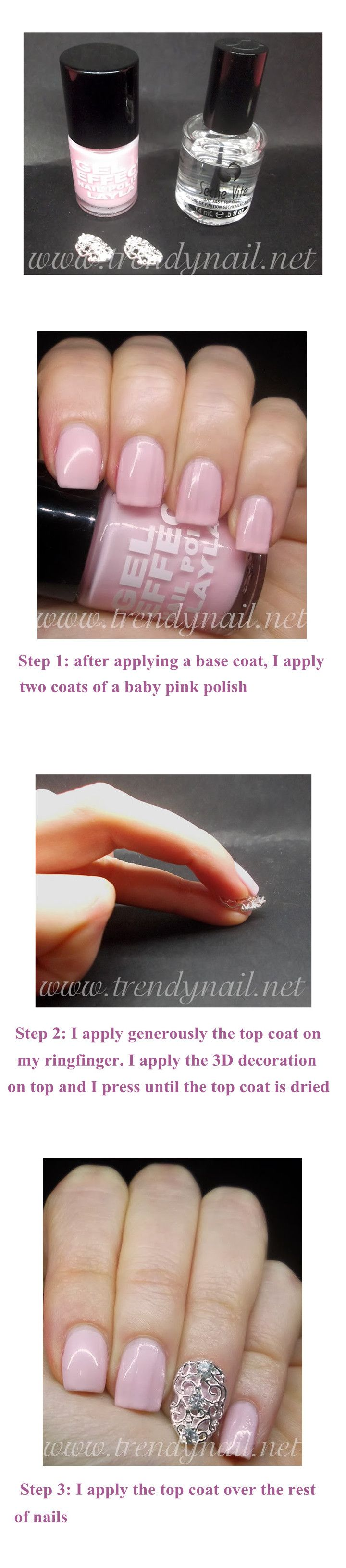 $1.58 2pcs Luxury Style Nail Crystal Embossed Metal 3D Nail Jewelry Decorations - BornPrettyStore.com